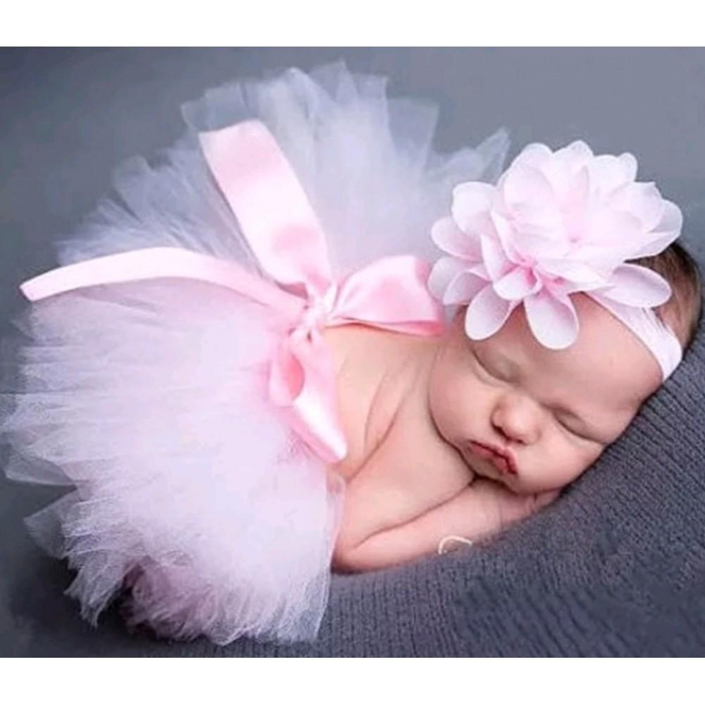 Tutuskirt and headband - Pink