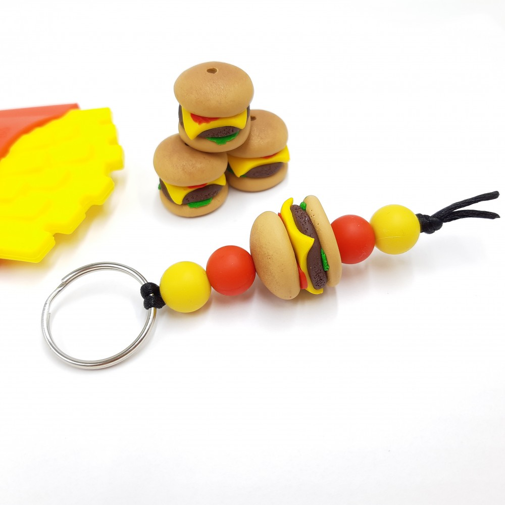 Burger key chain