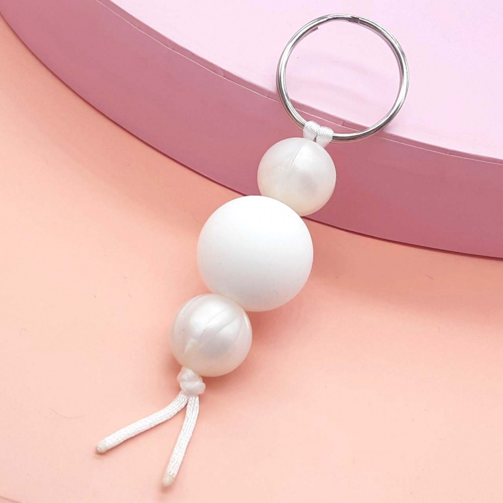 Key chain - Pearly white