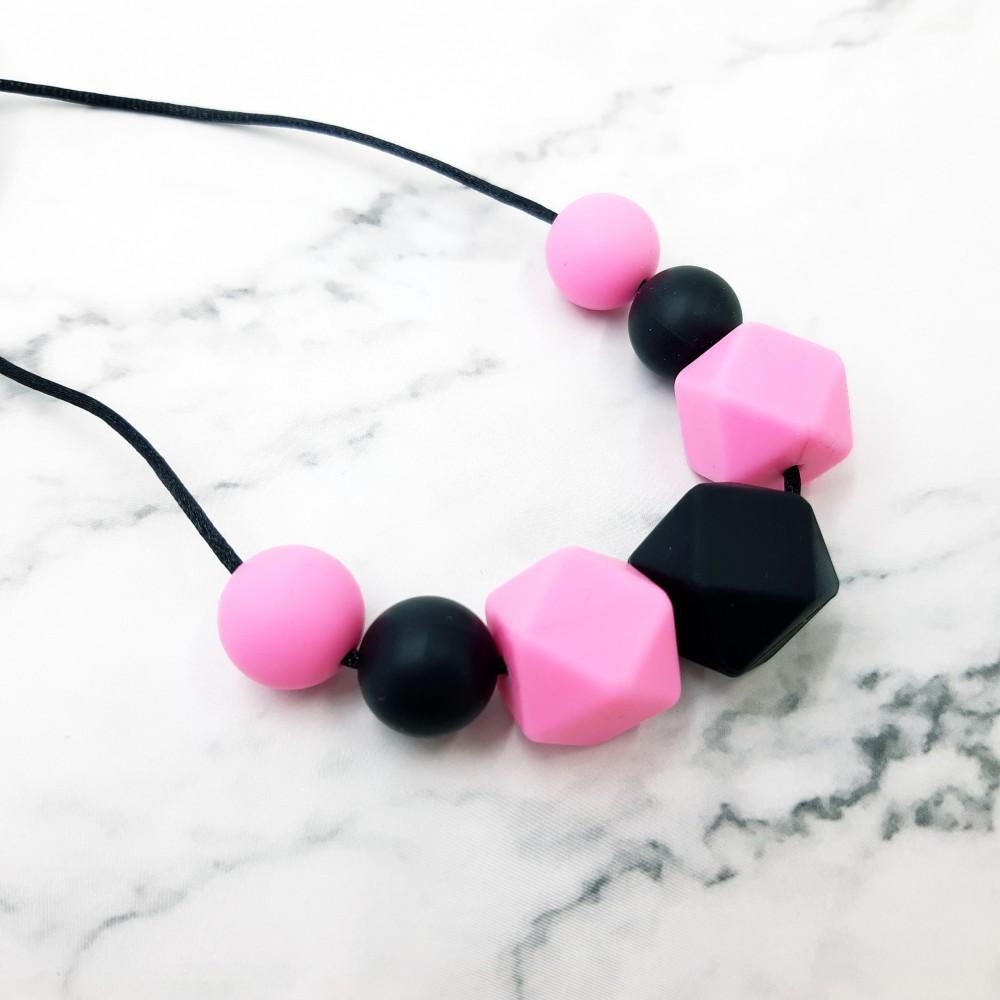 Nursing necklace - Black pink