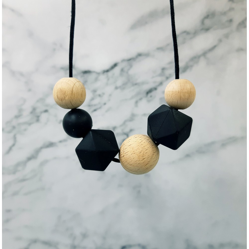 Nursing necklace  - Woody black