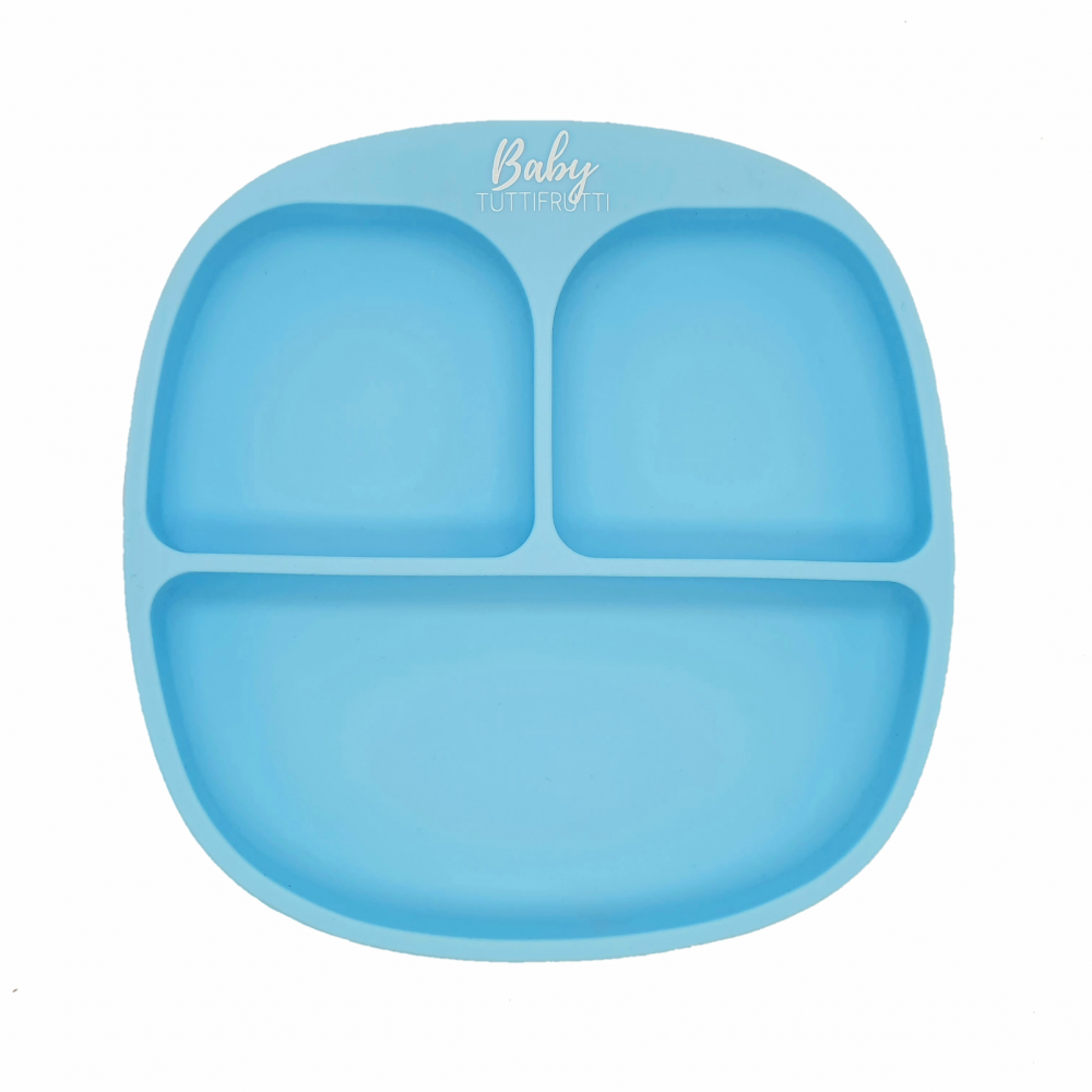 Silicone plate   Baby Blue