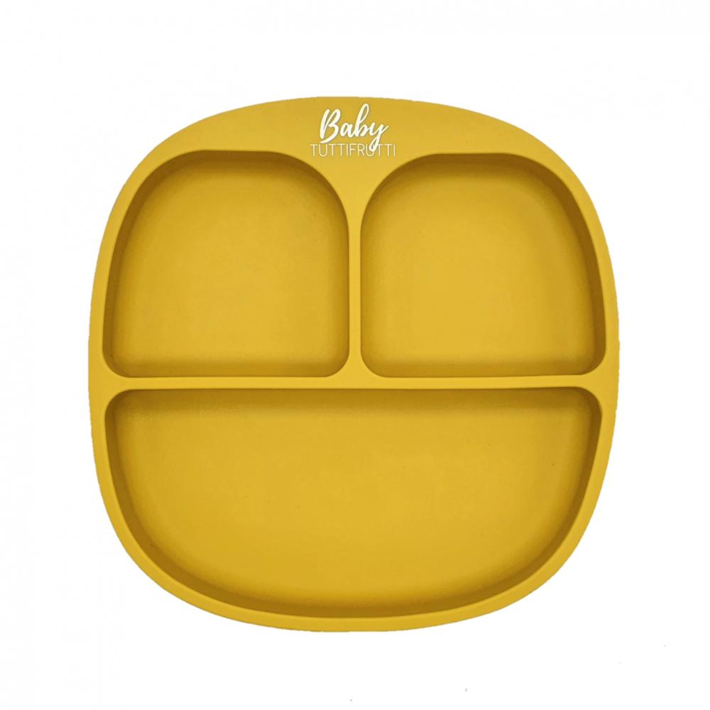 Silicone plate   Mustard