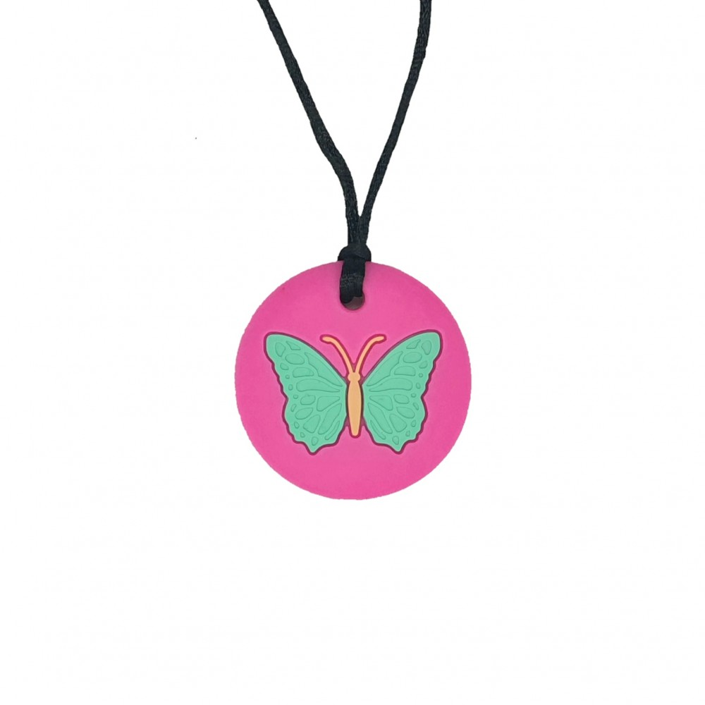 Kids' necklace | Butterfly - Fuchsia