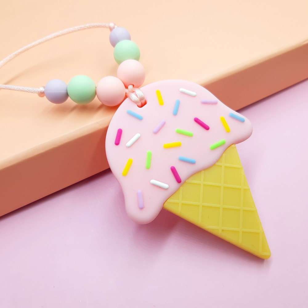 Ice cream necklace - Strawberry
