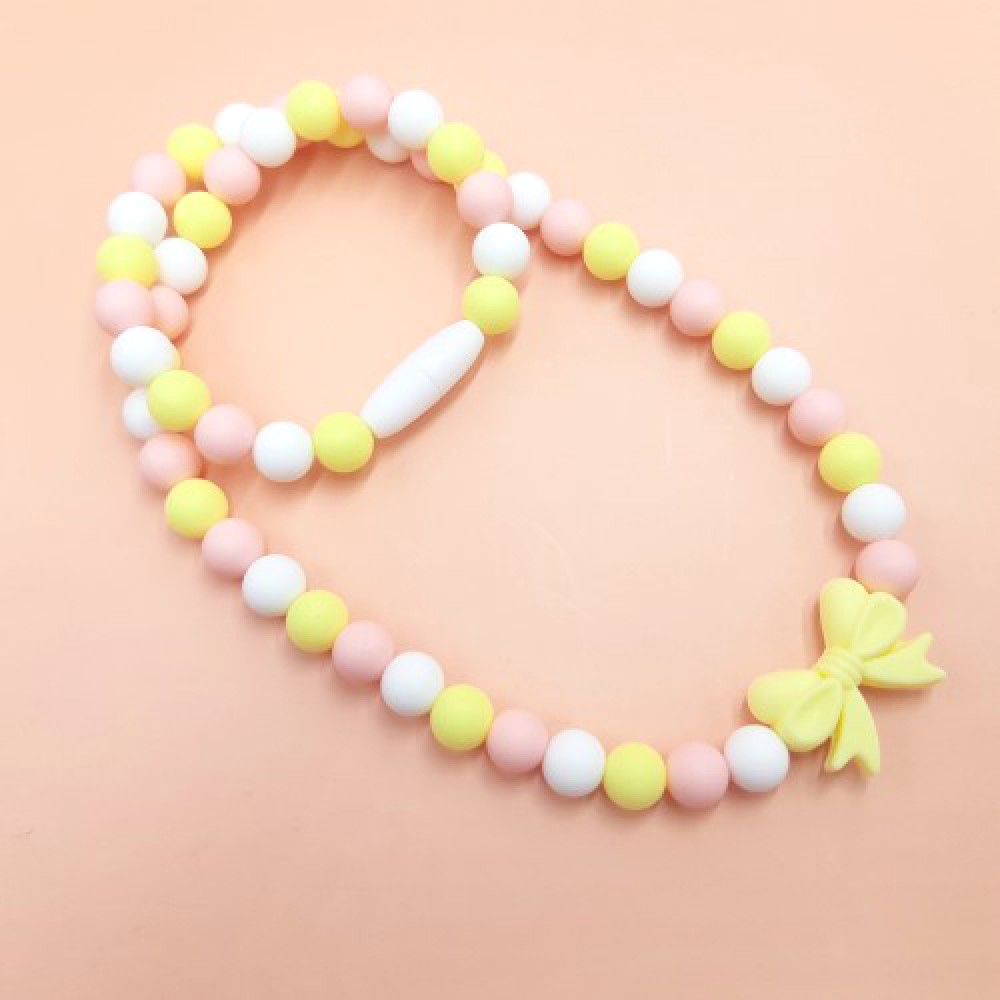 Necklace - Baby pink yellow