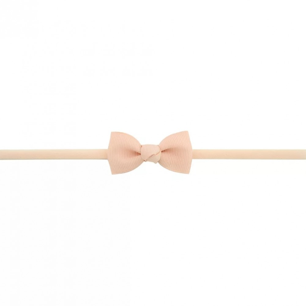 Baby band with small bow - Peach
