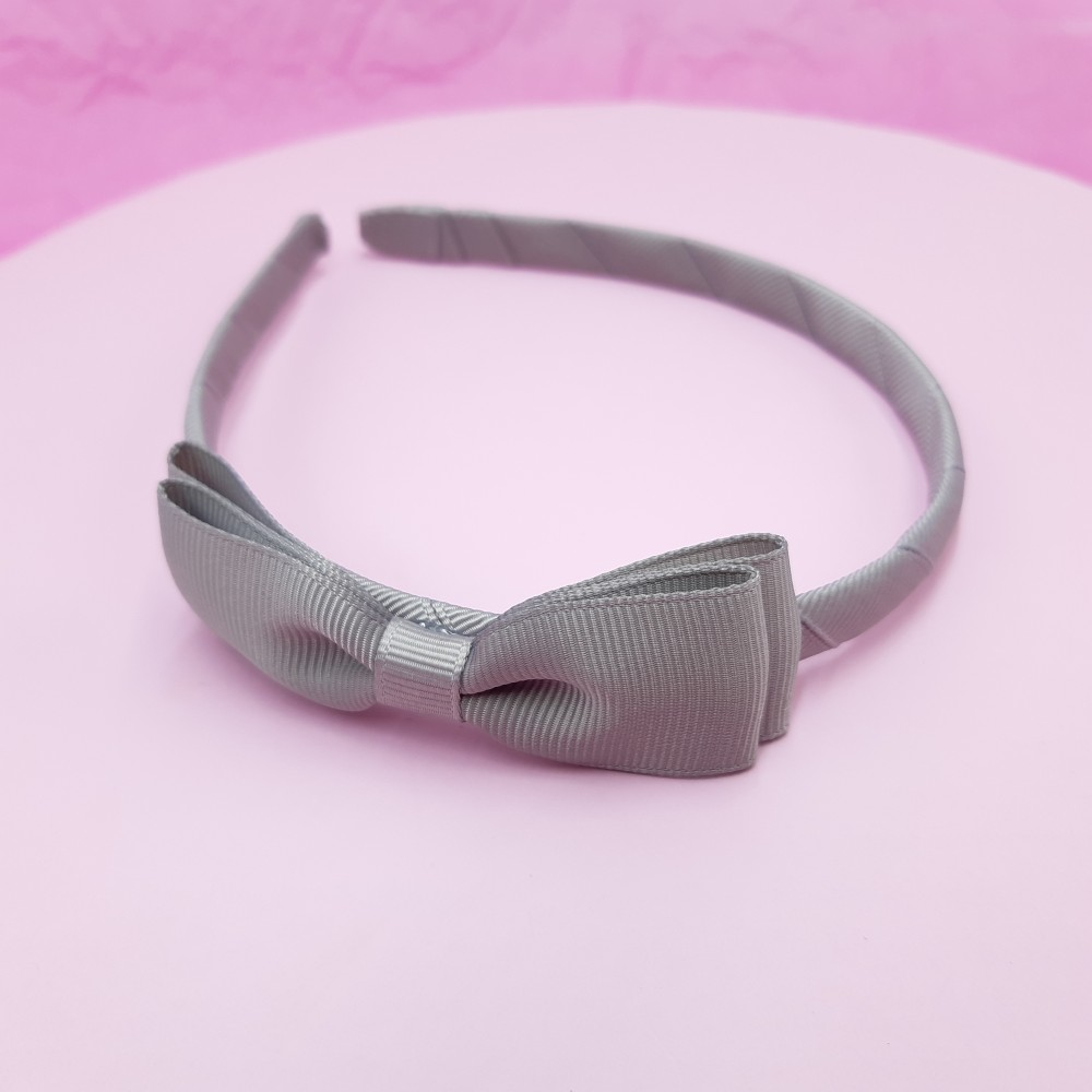 Band with bow - Grey