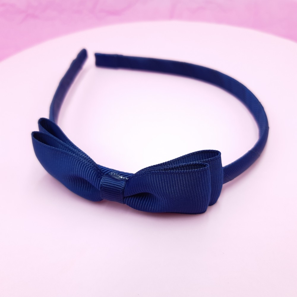 Band with bow - Navy
