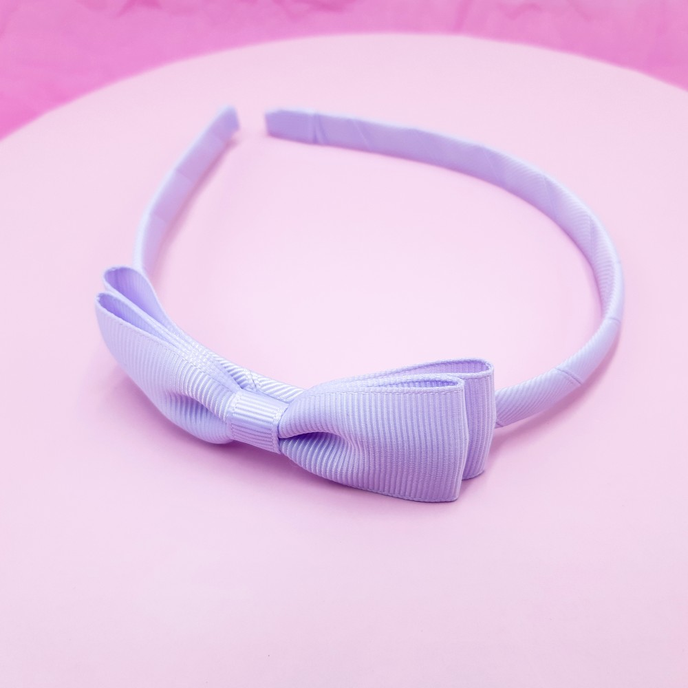 Band with bow - Lilac