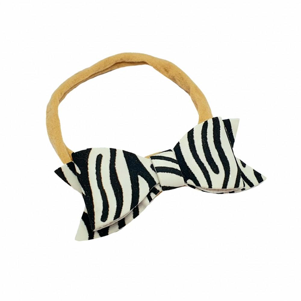 Bow headband - Zebra