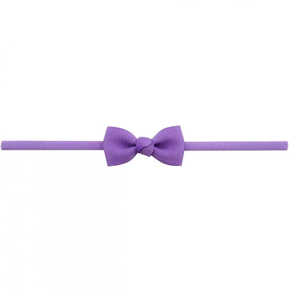 Baby band with small bow - Purple