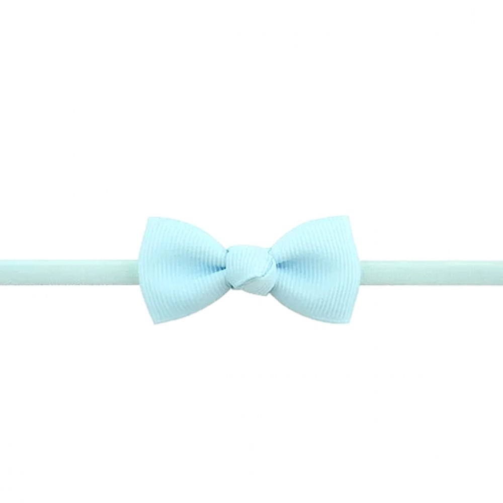 Baby band with small bow - Light blue
