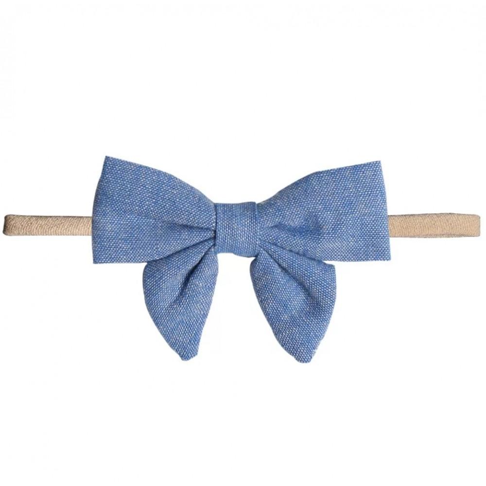 Bow headband - Denim