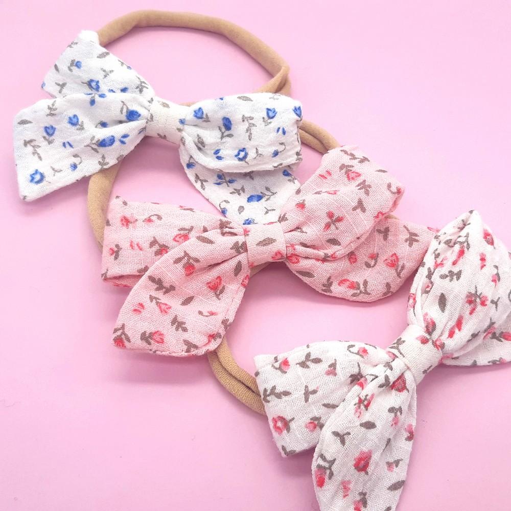 Bow headband - Flowers