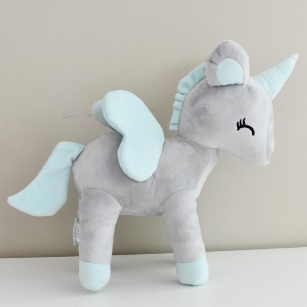 Unicorn plush - Grey mint M-size