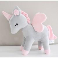 Unicorn plush - Grey pink M-size