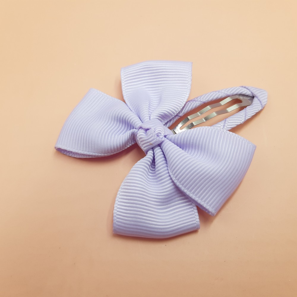 Hair clip with the bow - Light purple