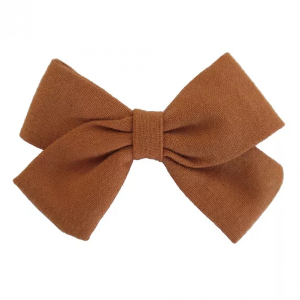 Hair clip with the bow - Bronze