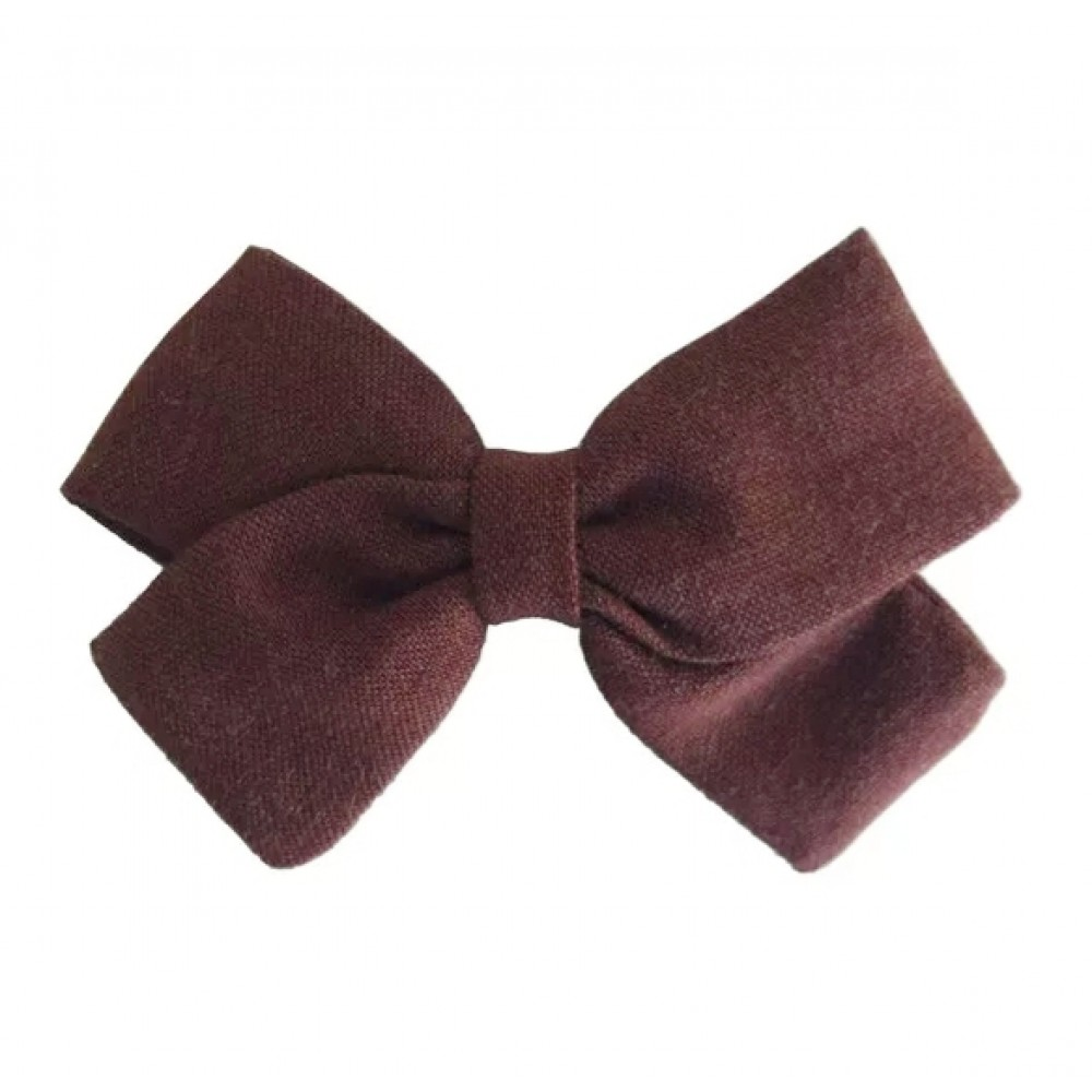 Hair clip with the bow - Cappuccino