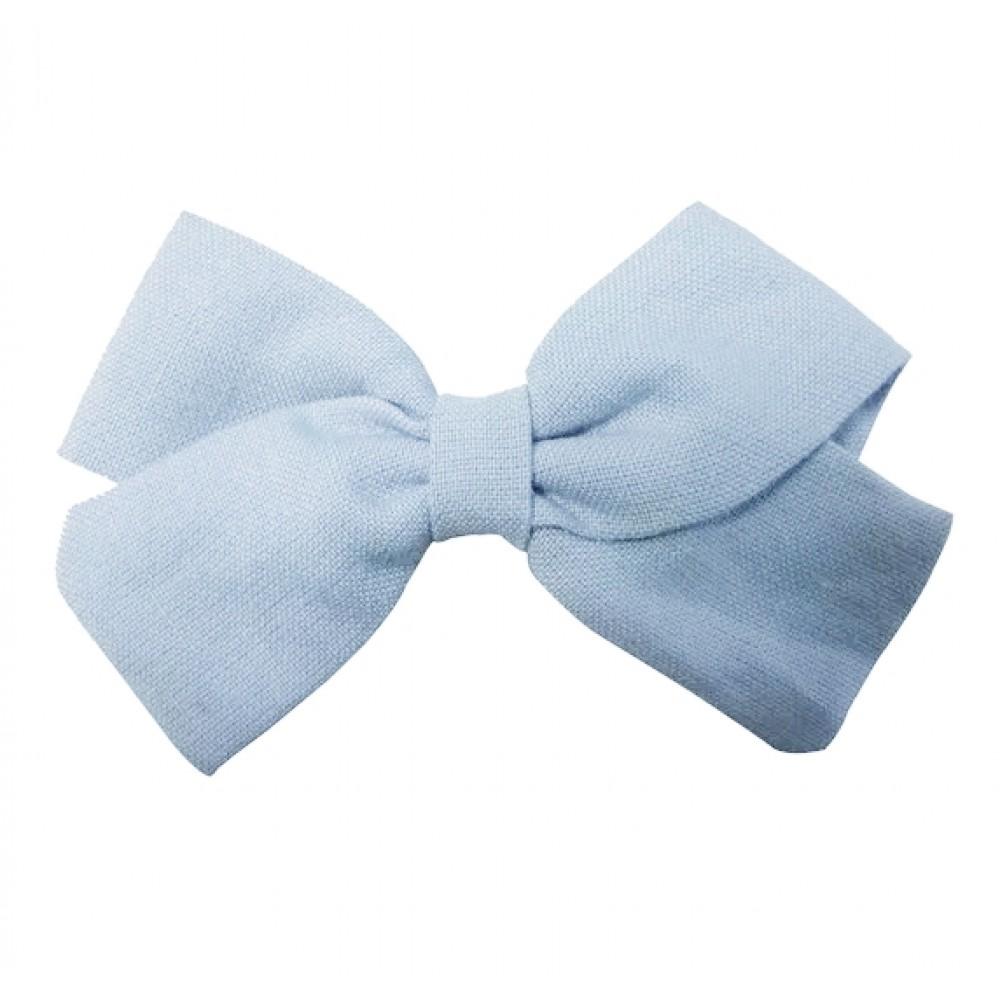 Hair clip with the bow - Light blue