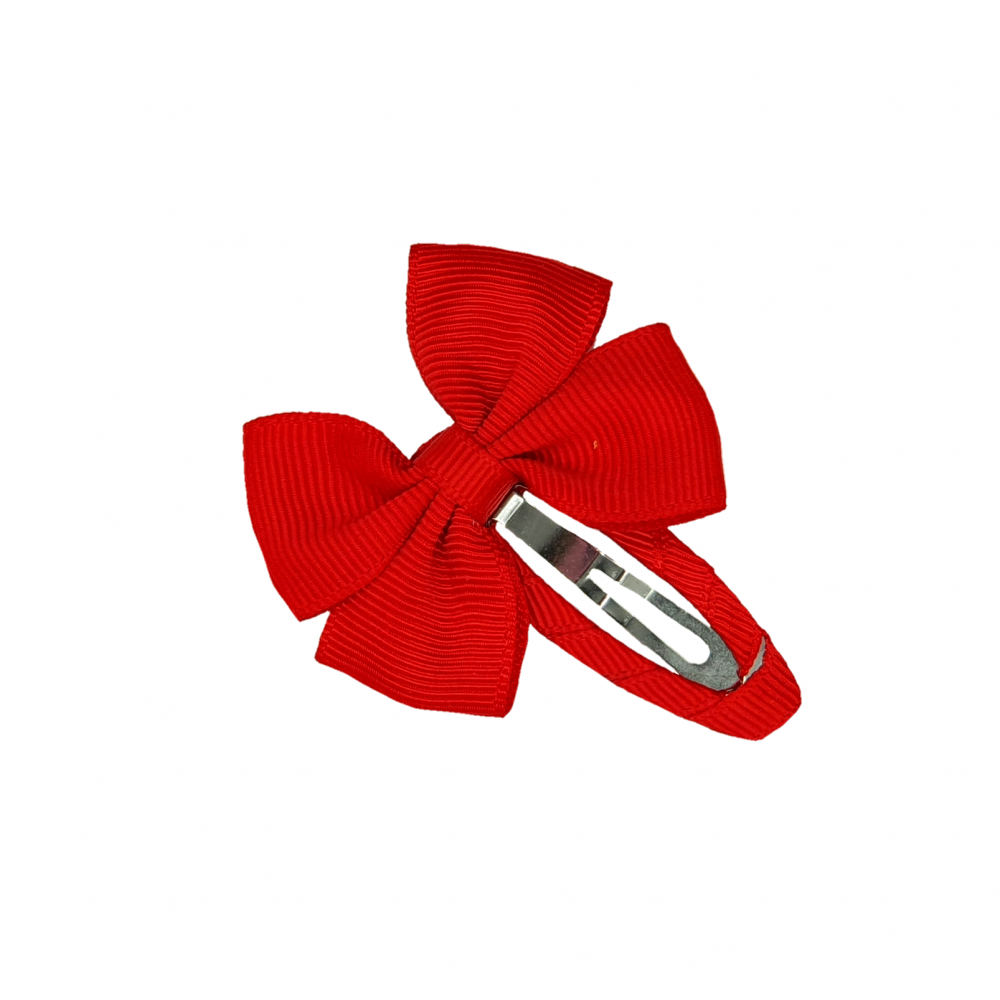 Hair clip with the bow - Red