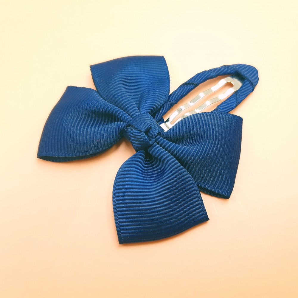 Hair clip with the bow - Navy