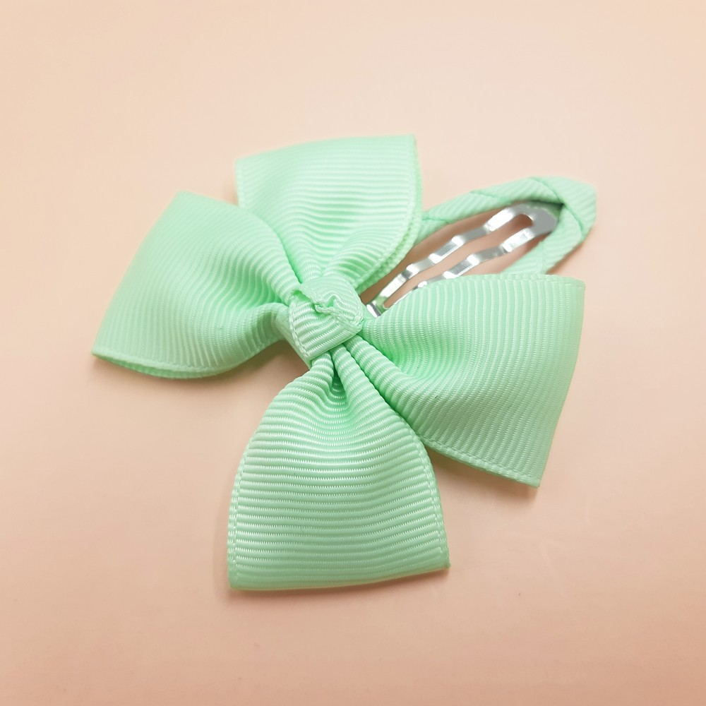 Hair clip with the bow - Mint