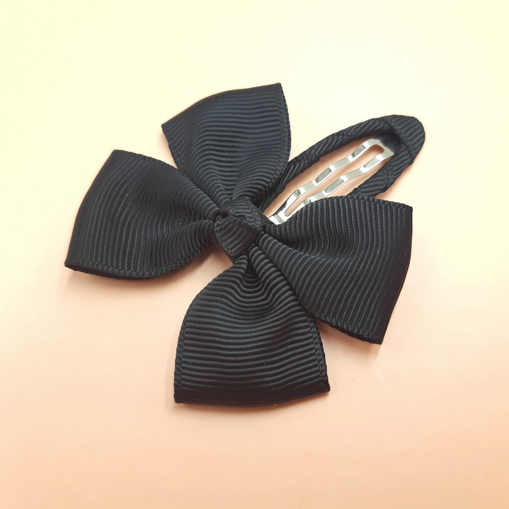 Hair clip with the bow - Black