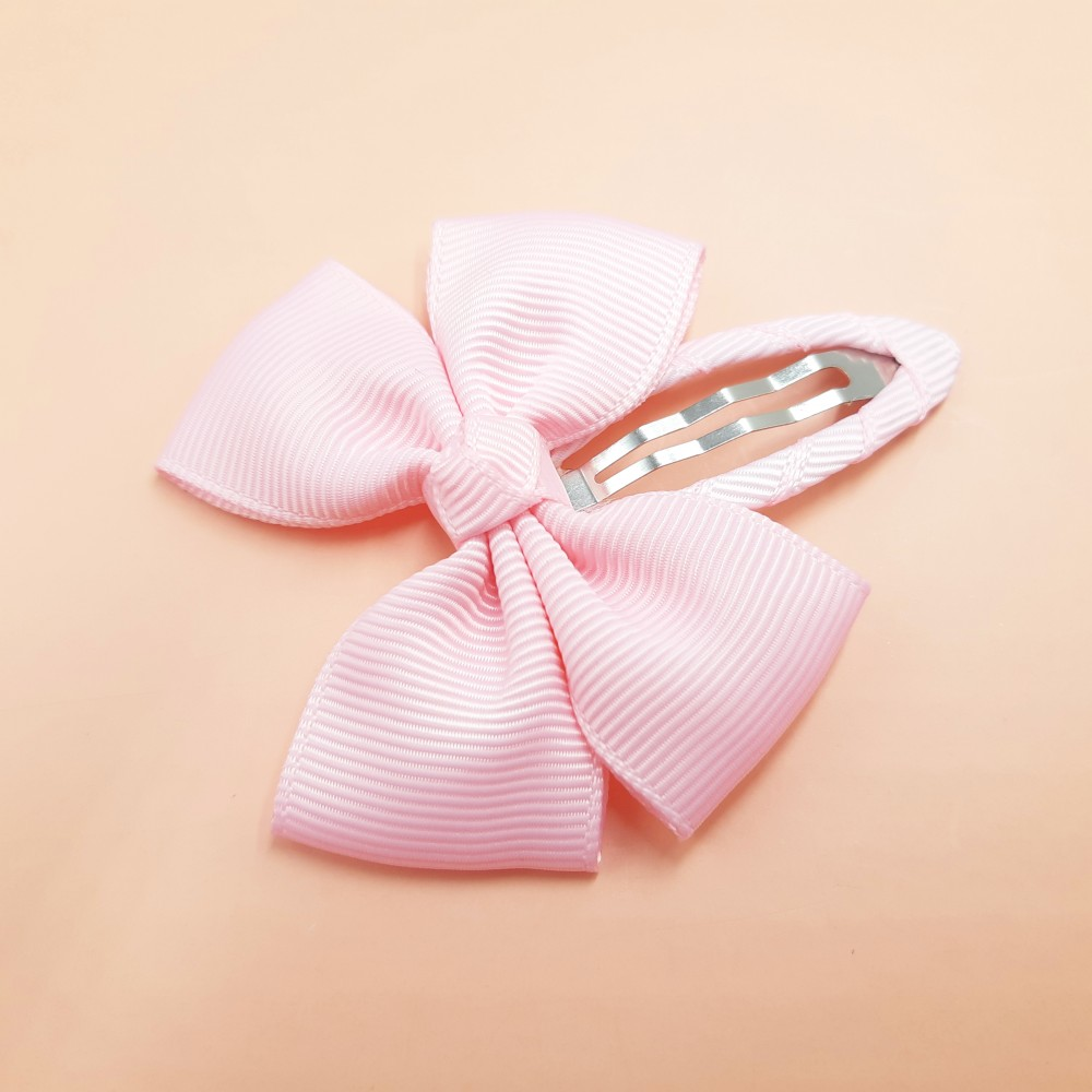 Hair clip with the bow - Light pink