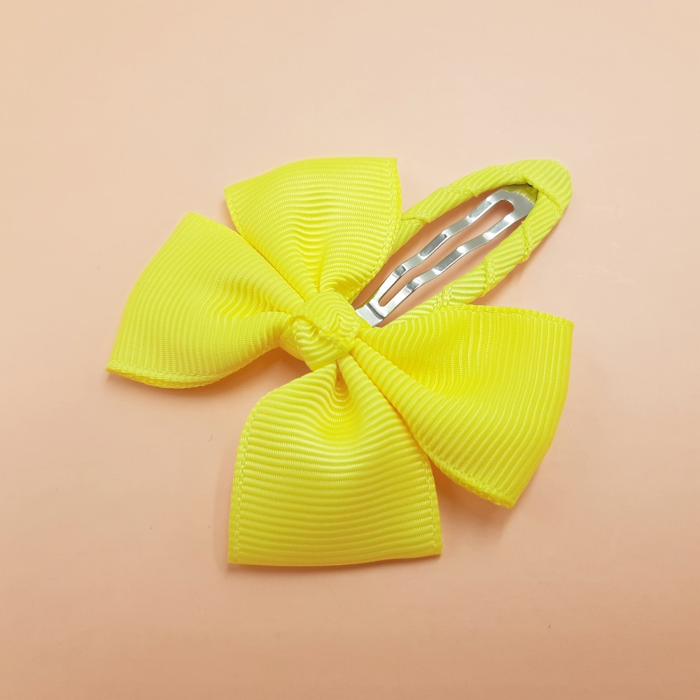 Hair clip with the bow - Yellow