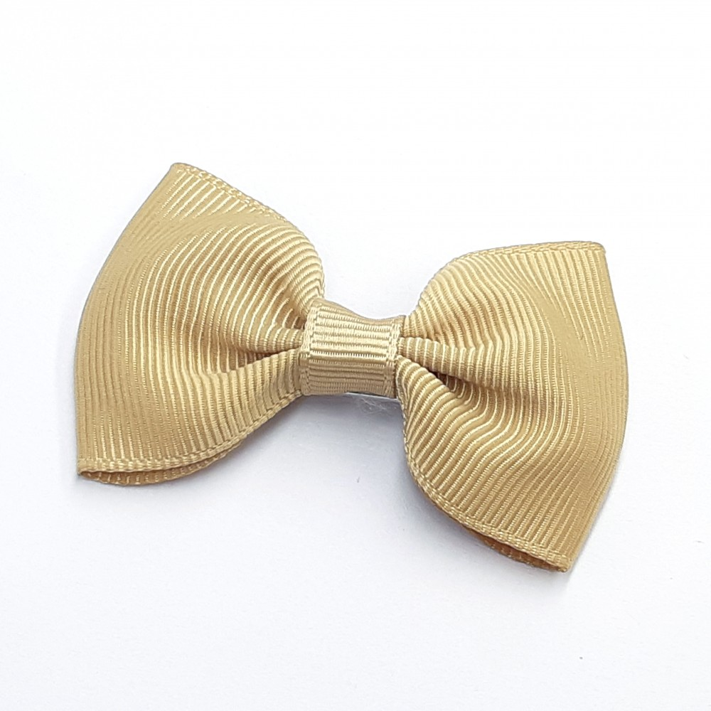 Hair clip with the bow - Beige