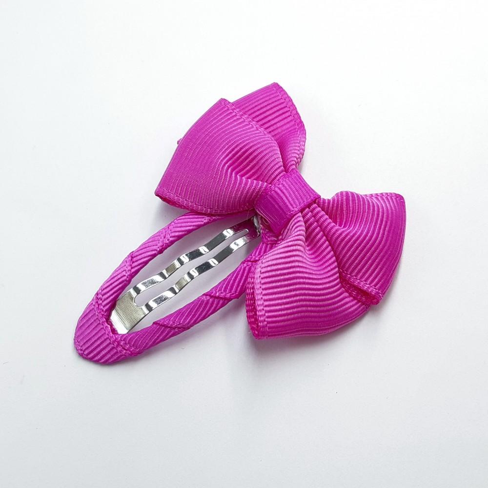 Hair clip with the bow - Fuchsia