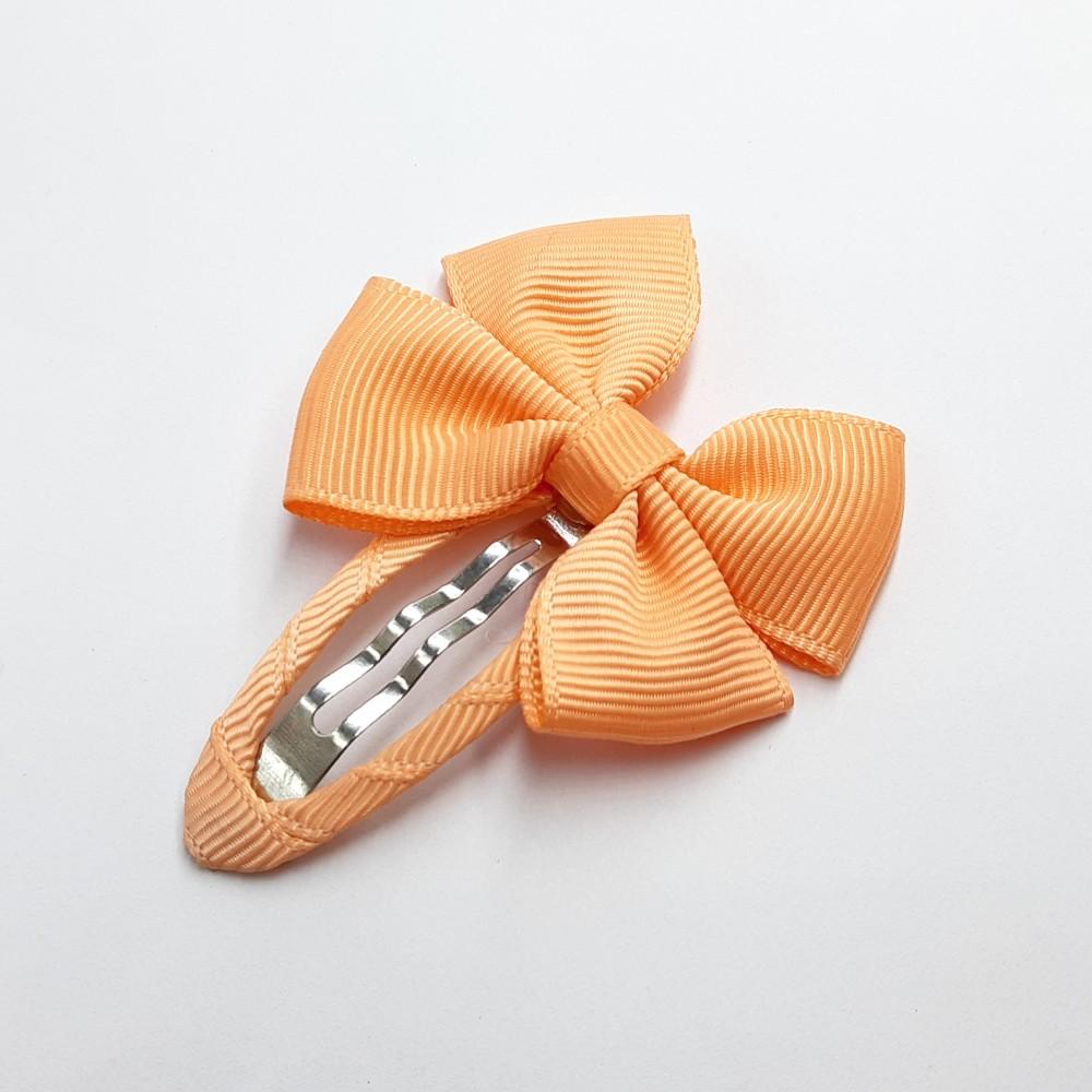 Hair clip with the bow - Peach