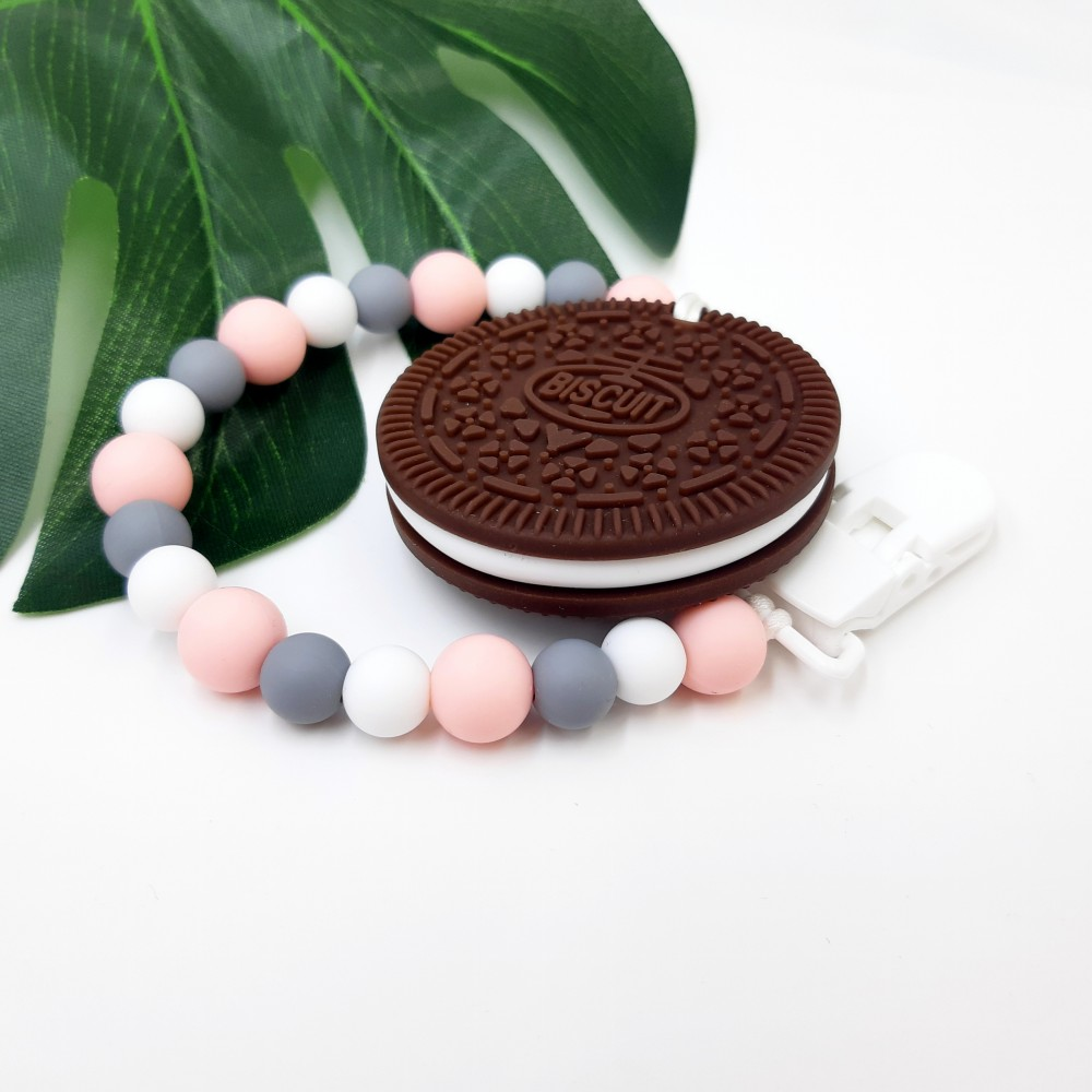 Cookie - Baby pink grey
