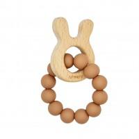 Wooden bunny - Camel