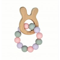 Wooden bunny - Soft pastel Grey