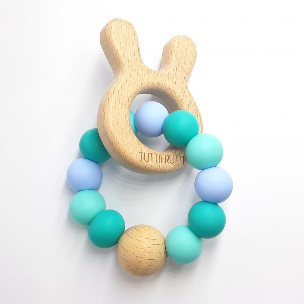 Wooden bunny - Greeny