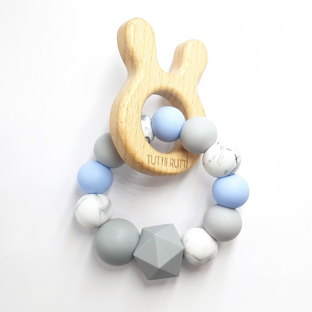Wooden bunny - Blue