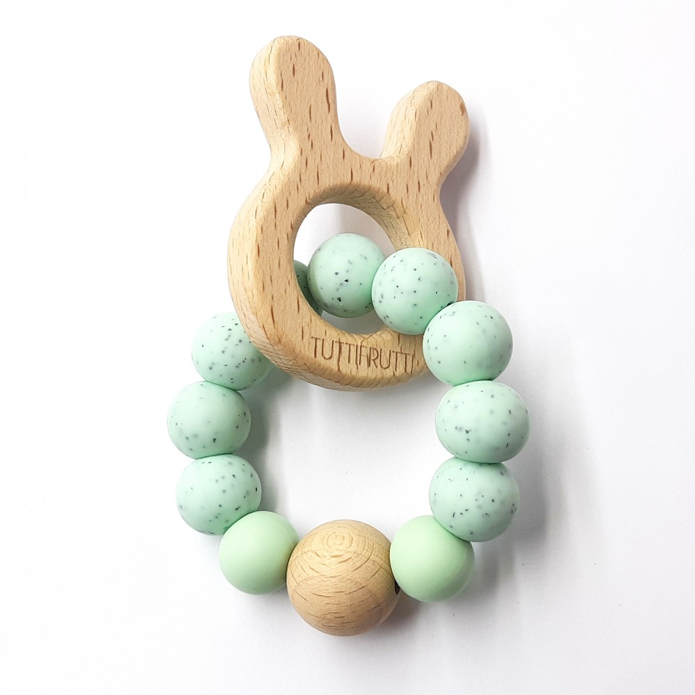 Wooden bunny - Gritty mint