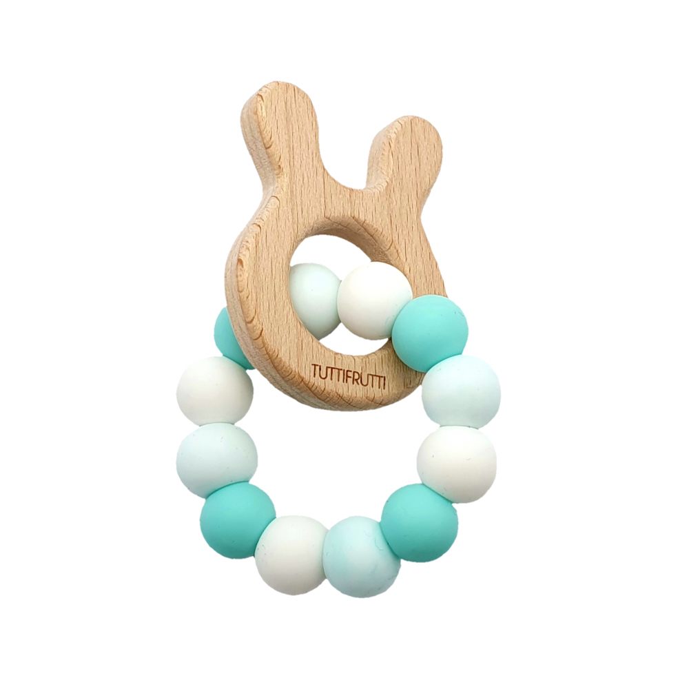 Wooden bunny - Ice mint