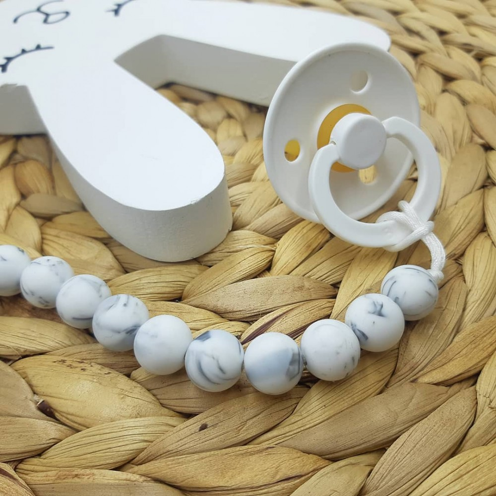 Pacifier clip - Marble