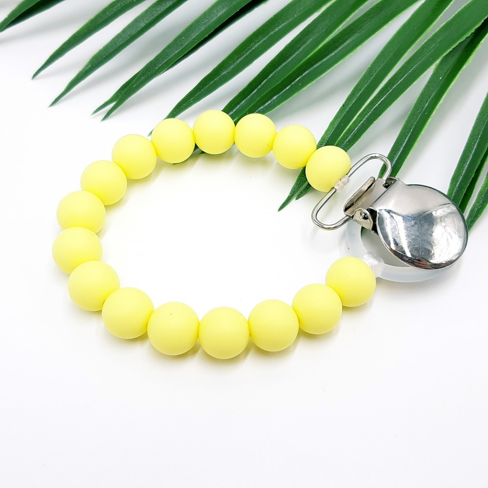 Pacifier clip - Baby yellow