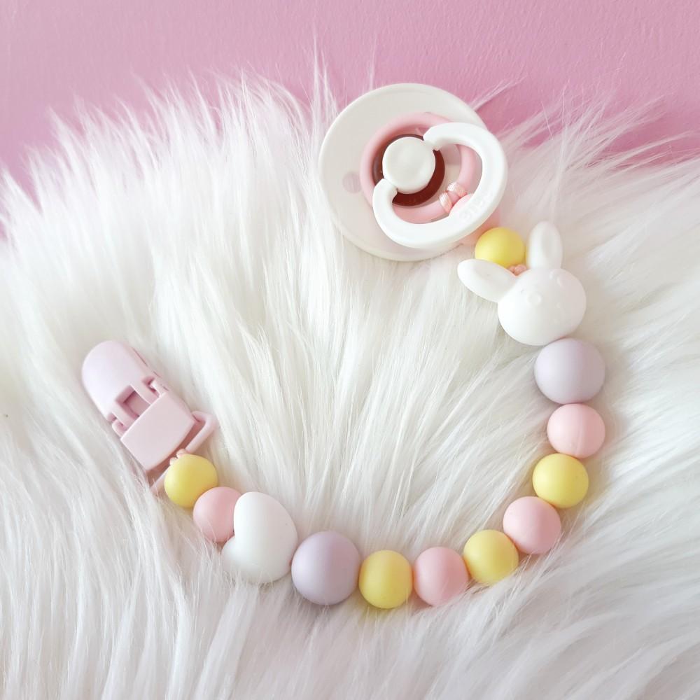 Pacifier clip - Bunny sweetheart