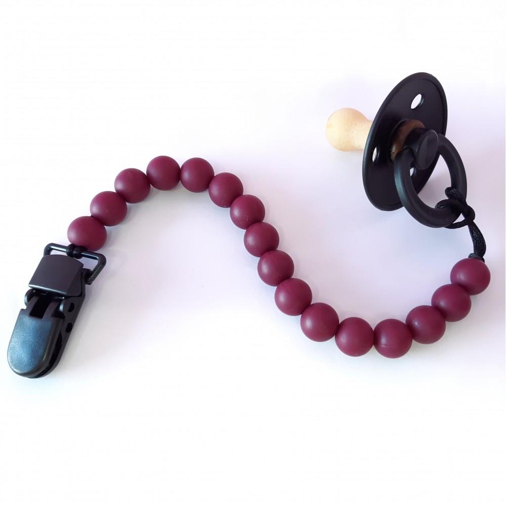 Pacifier clip - Burgundy