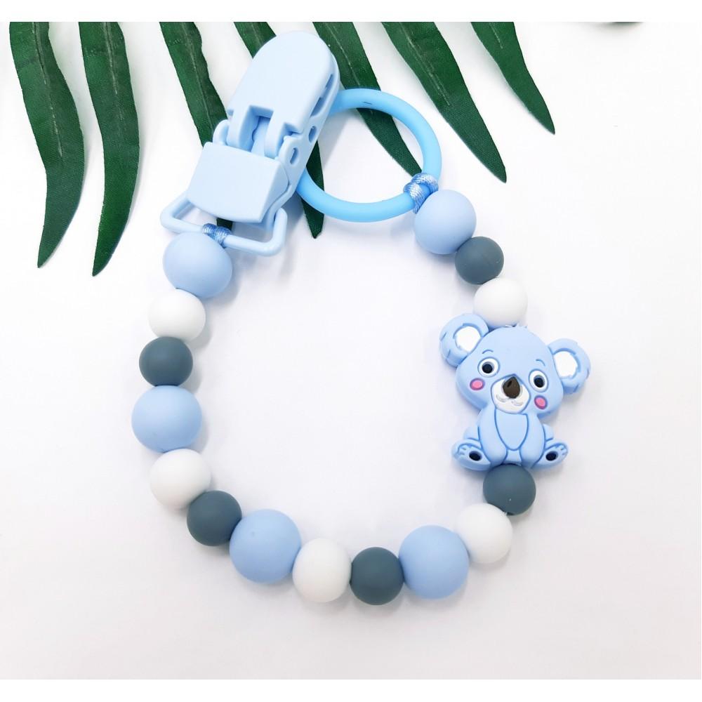 Pacifier clip - Koala | Blue