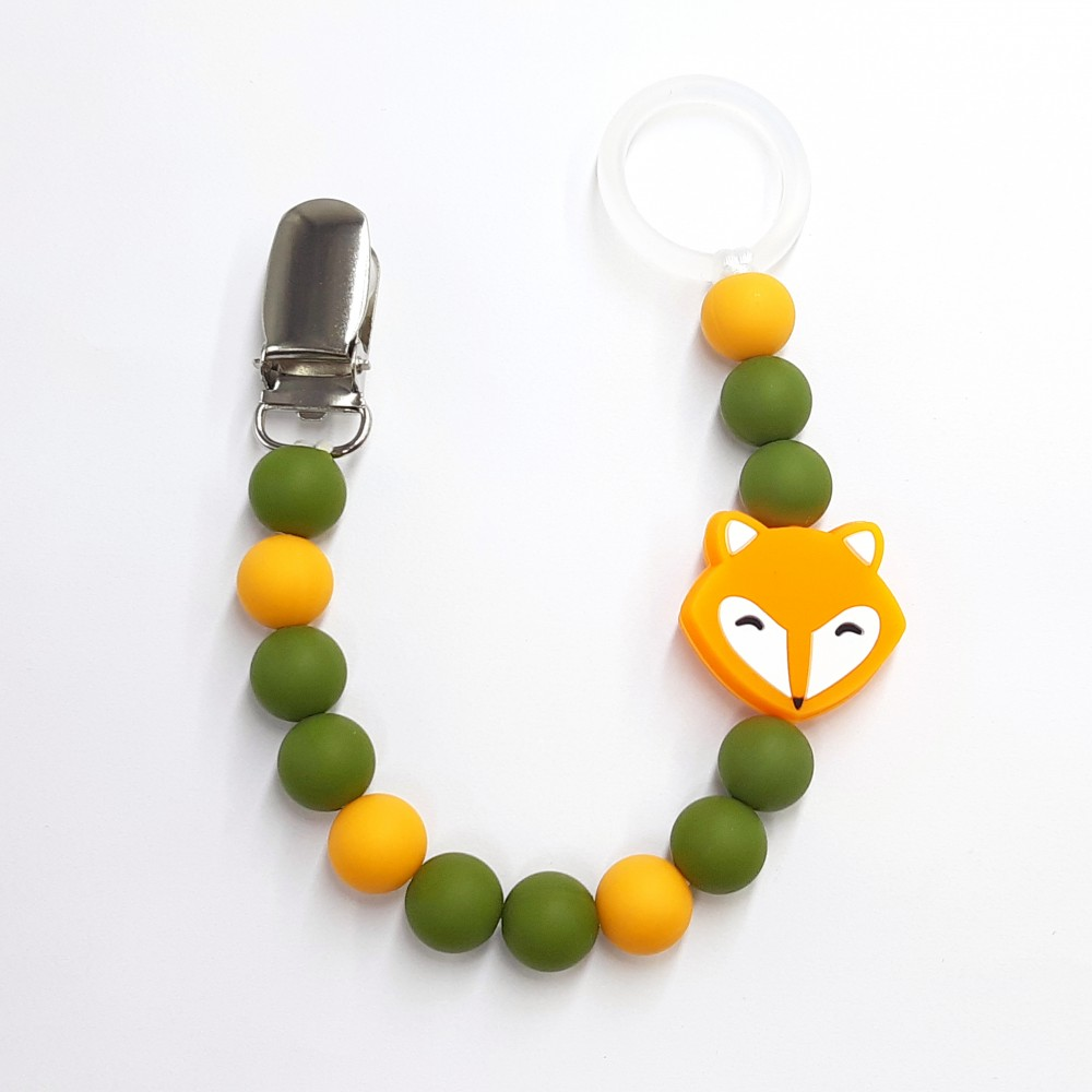 Pacifier clip - Fox | Olive